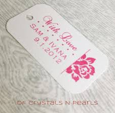 wedding gift tags 24 side customised gift tags wedding favor tags thank you