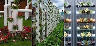 diy vertical pvc planter home design garden architecture