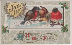 new year s postcards wish you a happy new year vintage everyday