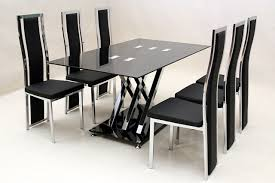 Dining Table And Six Chairs Chair Glass Dining Table And 6 Chairs Ciov Fabulous Dining