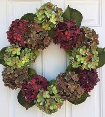 hydrangea wreath in new fall hydrangea wreath