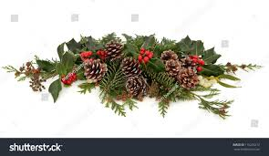 winter christmas floral decoration holly red stock photo 115205212