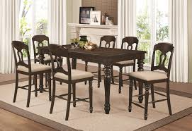 coaster 106358 359 antique tobacco 7 piece counter height dining set