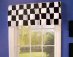 Black And White Polka Dot Valance Ergonomic Checkered Valance 9 Checkered Flag Car Racing Window