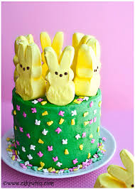 Decorating Easter Cake With Peeps by Peeps Cake