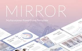 theme mirror mirror powerpoint template 63984