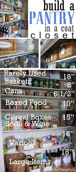 organizing kitchen pantry ideas build a kitchen pantry in a coat closet organizing tips pantry