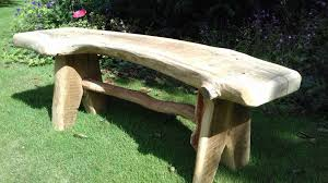 Rustic Oak Bench Rustic Oak Outdoor Furniture Rustic Carpentry