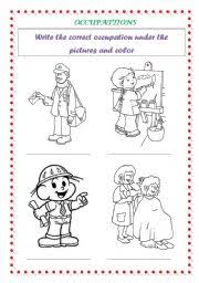 english worksheets occupation kids part 2 of 2