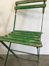 Vintage Bistro Chairs Set Of Vintage Green Bistro Chairs For Sale At 1stdibs