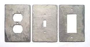 Gray Light Switch Slate Wall Plates Vermont Gray Slate Light Switch And Outlet Covers