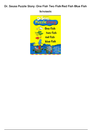 dr seuss puzzle story one fish two fish red fish blue fish