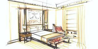 Room Sketch Hotel Eden U0027s Interior Design Inspiration Dorchester Collection
