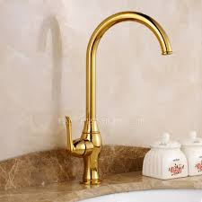 one kitchen faucets luxury gold polished brass kitchen faucets one