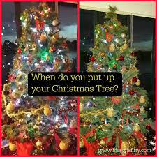 when do you put up your tree lifestyle fifty