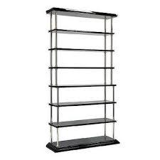 Silver Bookshelf Miles Redd X Tiered Black Turned Bookshelf