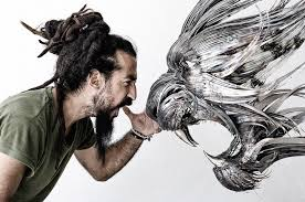 metal lion sculpture new fiercely powerful metal animal sculptures by seluk yilmaz