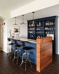 beige interior decoration of home basement bar designs with catchy