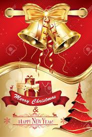 merry and happy new year greeting card stock