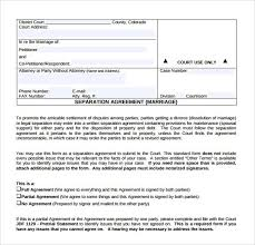 sample separation agreement sample independent contractor