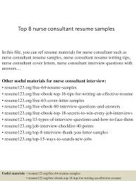 Sample Resume For Nursing by Top 8 Nurse Consultant Resume Samples 1 638 Jpg Cb U003d1428658400