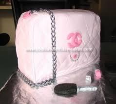 cool homemade pink channel handbag birthday cake