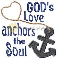 5x7 Love Anchors The Soul - love anchors applique design