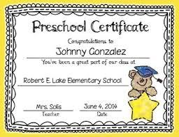 preschool certificates graduation certificates invitation editable prek kinder 1st