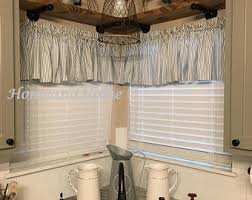 Black Ticking Curtains View Shower Curtain 72w 108w By Homeandhome On Etsy