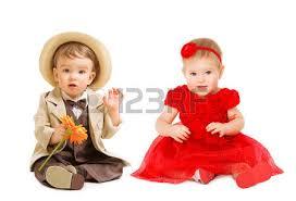 little portrait kid well dressed in formal wear children