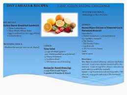 Water Challenge Directions Seeking Clean Challenge 5 Day Meal Plan