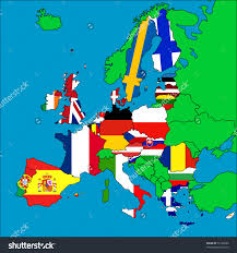 Different Countries And Their Flags Download Europe Map With All Countries Major Tourist Attractions