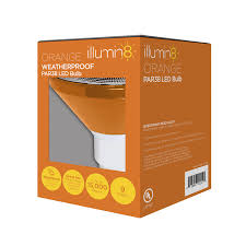 Deco En Carton Illumin8 Ipar38 Deco Or Par38 Orange Led Light Bulb Non Dimmable
