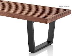 Slat Bench George Nelson Platform Bench With Wood Base Hivemodern Com