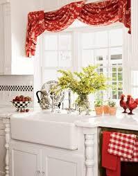 red kitchen curtain ideas kitchen and decor