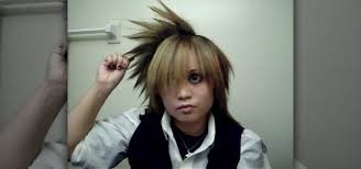 spiked hair with long bangs how to side spike your hair like anime character kanon