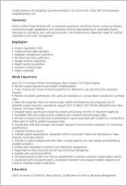 Sample Resume For Client Relationship Management by Professional Project Analyst Templates To Showcase Your Talent