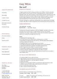 Chief Of Staff Resume Sample by Bar Staff Resume Template Http Resumesdesign Com Bar Staff