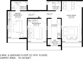 O2 Floor Plan by Godrej Central Chembur Property Megamart