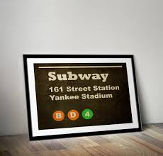 yankee stadium wall art shenra com subway sign yankee stadium canvas wall art