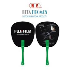 promotional fans eco friendly plastic pp fans with printed logo for promotional