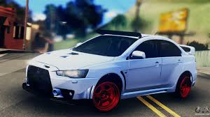 mitsubishi evo 2015 mitsubishi lancer evolution x for gta san andreas