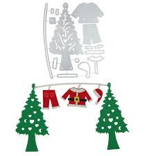 aliexpress com buy christmas tree santa claus clothing metal