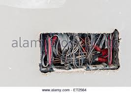 electrical wiring in new home construction stock photo royalty