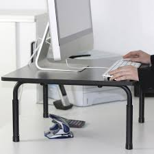 Adjustable Height Desk by Adjustable Height Standing Desk Riser Monitor Stand Small