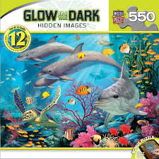 glow in the dark hidden images sea serenity 500 piece jigsaw