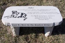 personalized memorial stones bench