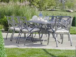 hauser hampton cast aluminum outdoor dining patio furniture