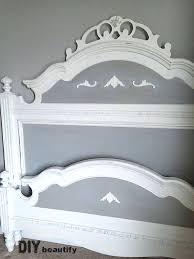 Painted Headboard Ideas Painting An Oak Bed One Room Challenge Spring 2015 Week 2 Diy
