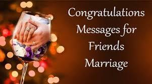 Wedding Congratulations Message Congratulations Messages For Friends Marriage